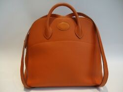 Authentic Vintage HERMES from 1999 Bolide Ado in Orange Color