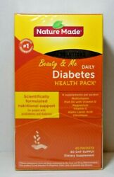 Nature Made Daily DIABETIC Health Pack 60 Packets $25.69