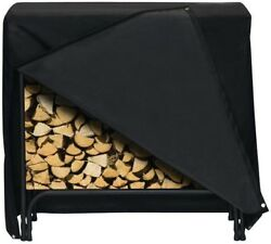 Two Dogs Designs 48 in x 42 in Log Rack Cover Black Fireplace Rack Indoor