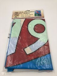 DECORATIVE FLAG 19th HOLE~FOR INDOOR OR OUTDOOR USE.