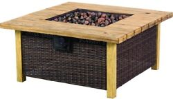 24 in. Bond Fire Pit Table Stainless Steel Burner 50000 BTU Pulse Ignition