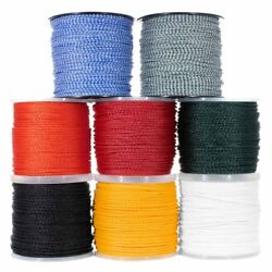 Hollow Braid Polypropylene Rope – Large Variety of Colors and Diameters $5.99