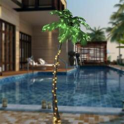 LED Palm Tree 7Ft Luau Patio Deck Tropical Island Light Display Indoor Outdoor