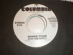 Bonnie Tyler 45 Here She Comes COLUMBIA PROMO