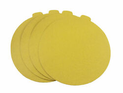 8 Inch Gold Adhesive PSA Paper Tab Sanding Discs 25 Pack 80 Grit $21.42
