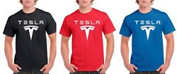 Tesla Logo T Shirt Mens and Youth Sizes $13.74