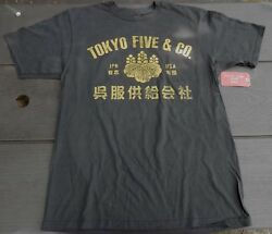 NEW w Tags  Mens Tokyo Five Co Brand Vintage Look T-shirt  GRAY GREY Sz M ONLY $9.99