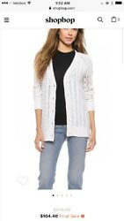NWT Equipment Suzy Cable Knit Cashmere Cardigan- Size S $348