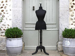 Rare WASP WAIST Antique French Mannequin Stockman Dress Form Tailor's Dummy