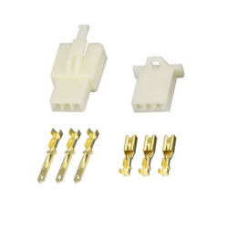 2.8MM 3 PIN WAY AUTOMOTIVE ELECTRICAL WIRE CONNECTOR MALE  AND FEMALE CABLE $4.99
