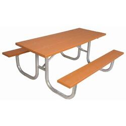 Portable Cedar 6 ft. Commercial Park Recycled Rectangle Plastic Picnic Table