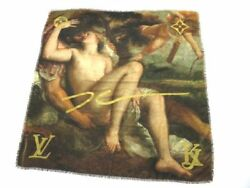 Louis Vuitton Masters Collection TITIAN Stole Shawl Scarf Wool Silk M70612 Used