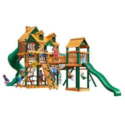 Decay Resistant Cedar Wood with Timber Shield 800-lb Load Capacity Playset
