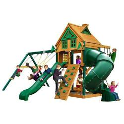 Mountaineer Treehouse Brown Cedar with Fort Add-On and Timber Shield Playset