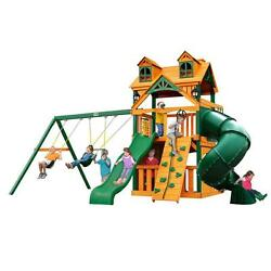 Pre-Sanded Brown Cedar Malibu Extreme Clubhouse Playset with Timber Shield