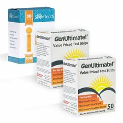 GenUltimate Blood Glucose Test Strips For Use with One Touch Ultra Meters ..