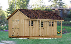 18' x 20' Building Storage  Utility Shed Detailed Plans  Blueprints #P51820