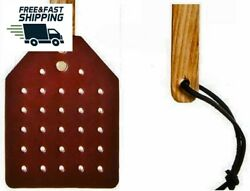 NEW Amish Leather Fly Swatter With Wood Handle Brown FREE SHIPPING $27.38