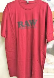 Raw Natural Rolling Papers Life Red T Shirt Large With Free Shipping $17.99