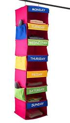 Daily Activity Organizer 7 Shelf Portable Hanging Closet Organizer for Kids