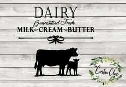 quot;Fresh Dairyquot; farmhouse vinyl decal sticker for crafting DIY decor projects $10.99