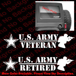 US ARMY VETERANRETIRED Armed Services Car Window Vinyl Decal Sticker AY030