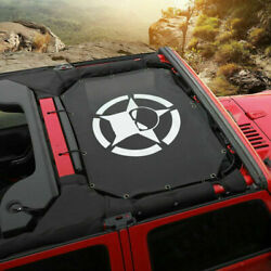 Durable Polyester Mesh Shade Top Cover Block UV Sun for 2007 Jeep Wrangler JK $29.57