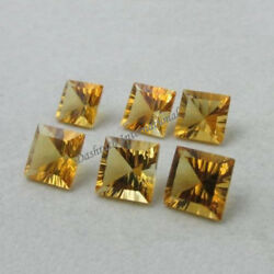 NATURAL CITRINE SQUARE CONCAVE CUT CALIBRATED LOOSE GEMSTONE WHOLE SELLER