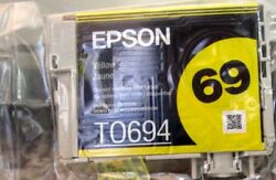 Epson 69 T0694 NEW NO BOX Original Yellow Ink Cartridge FREE SHIPPING $6.77