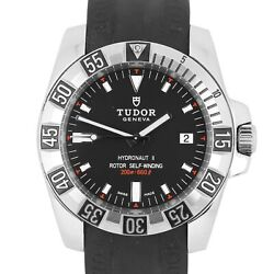 Tudor Hydronaut II Automatic Black 40mm 20040 Rubber Dive Date Swiss Watch