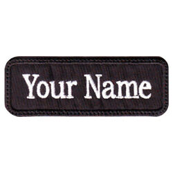 Rectangular 1 Line Personalized Embroidered Name Text Tag Patch I $6.75