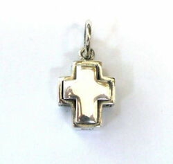 Vintage Designer sterling silver cross charm Back cross Filigree $8.99