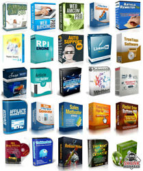 100 Master Resell Rights Software Make Money Online Home Based Business Website  $9.95