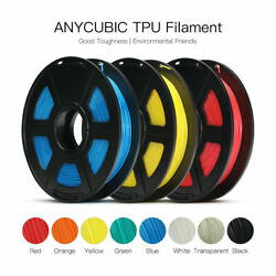 US ANYCUBIC TPU Filament Plastic 3D Printer 1.75mm 500g*2Pcs Flexible Colorful $49.99