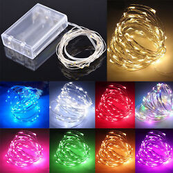 Waterproof 20304050100 LEDs String Copper Wire Fairy Lights Battery Powered
