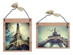 Blue Paris Pictures France Eiffel Tower Pink France Wall Hangings Home Plaques $7.99