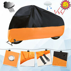 Motorcycle Cover Heavy Duty for Winter Outside Storage XXXL Snow Rain Waterproof $15.29