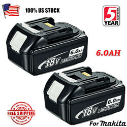 2X NEW 18V 6.0Ah LITHIUM ION BATTERY LXT FOR MAKITA BL1860 BL1830 US LATEST PACK $47.99