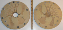 """Vintage 9"""" Rubber Spin Casting Mold Jordache Levi Jeans Heart Screws Brooches"""