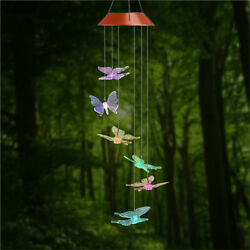 Butterfly LED Color-Changing Power Solar Wind Chimes Yard Home Garden Decor US $12.99
