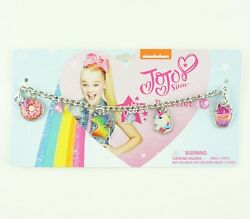 JoJo Siwa Bracelet for Girls Metal Chain Unicorn Cupcake Donut Charms
