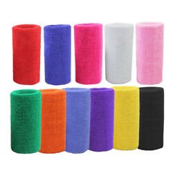 246810Pack Wrist Sweatbands Athletic Cotton Terry Cloth Wristbands Gym Sport