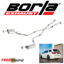 BORLA S-Type Cat-Back Performance Dual Exhaust 11-19 Dodge Durango 5.7L Hemi V8