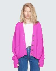 NEW REDONE WOMENS CASHMERE CARDIGAN - VIOLET