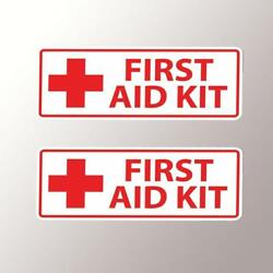 First Aid Kit Vinyl Decal Sticker Car Truck Jeep Safety Medical Osha Sign Boat