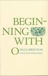 Beginning With O Paperback by Broumas Olga ISBN 0300021119 ISBN-13 978030...