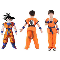 Kids Boys Dragon Ball Z Goku Son Gokou senRu Costume Outfits Cosplay Halloween