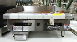 Imperial ITG 24 Commercial 24quot; Gas Thermostat Countertop Griddle