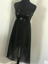 Wet Seal Black Sequin and Chiffon Formal Party Dress $13.00