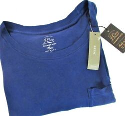 Ladies NAVY Garment dyed with pocket T-shirt tee style j Crew E4964 [] $7.99